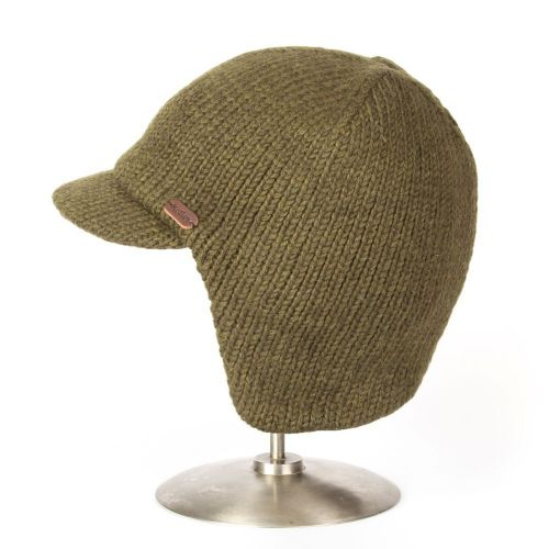 Earneck Peak Woolly Hat - Kusan - Khaki Green cd2fa7ea864b